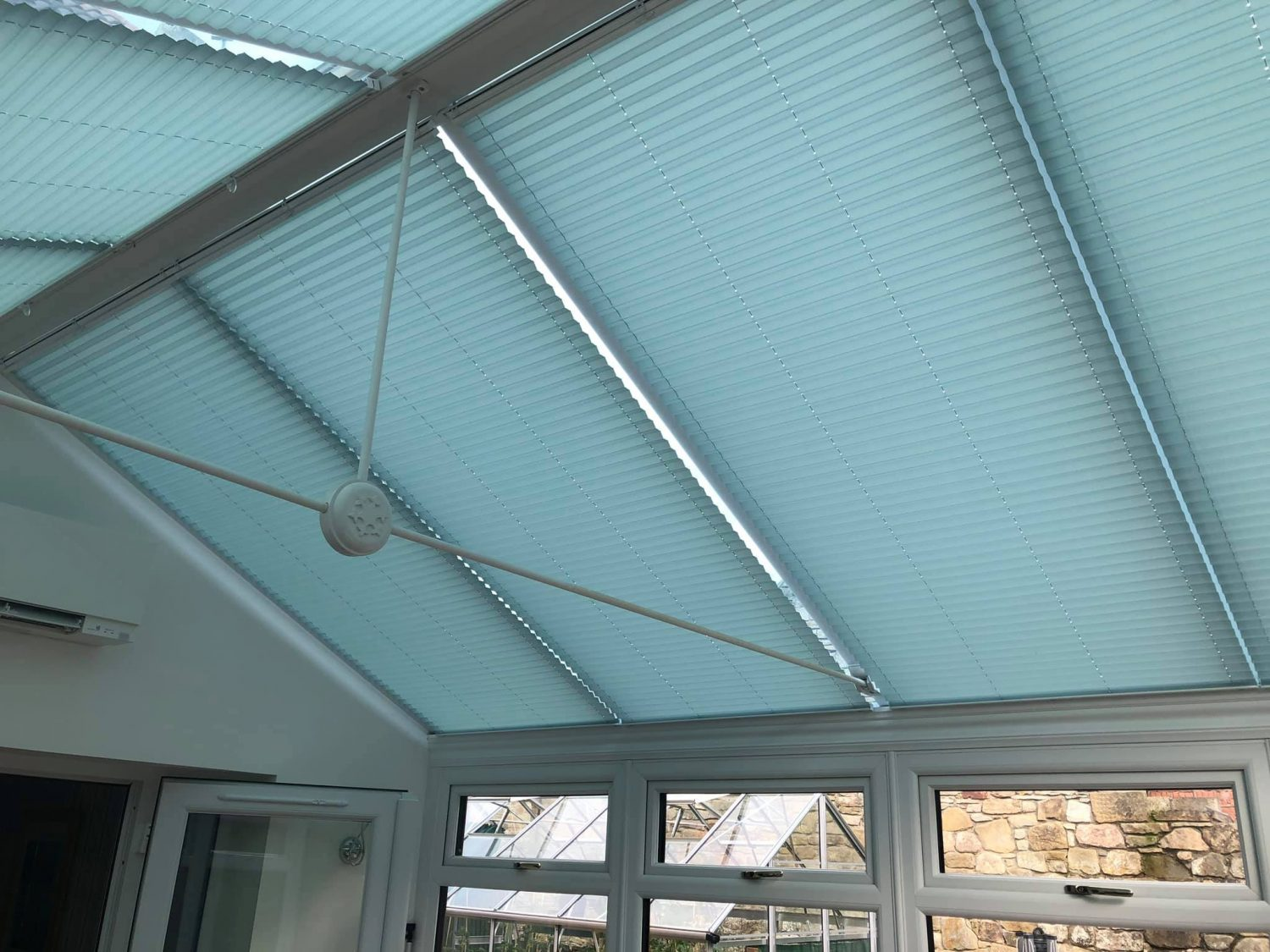 Conservatory Roof Blinds Kirknewton by Stylerite-blinds, Livingston, West Lothian.